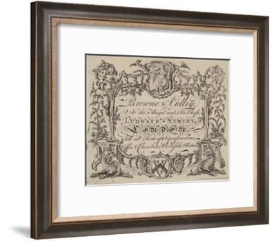 Tea Men, Browne and Culley, Trade Card--Framed Giclee Print