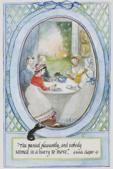 'Tea Passed Pleasantly, and Nobody Seemed in a Hurry to Move', 2010-Caroline Hervey-Bathurst-Giclee Print