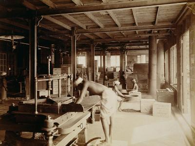 Tea Pickers at the Lipton Factory in Ceylon, C.1900--Photographic Print