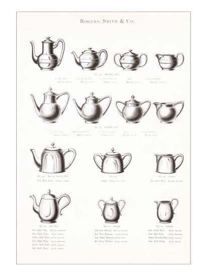 Tea Pot Selection--Art Print