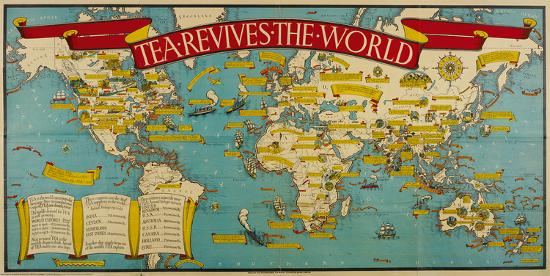 Tea Revives the World-Macdonald Gill-Premium Giclee Print