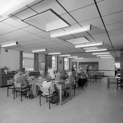 Tea Room, Montague Hospital, Mexborough, South Yorkshire, 1977-Michael Walters-Photographic Print