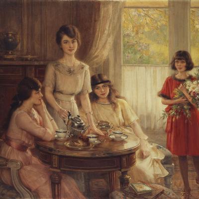 Tea Time-Albert Lynch-Giclee Print