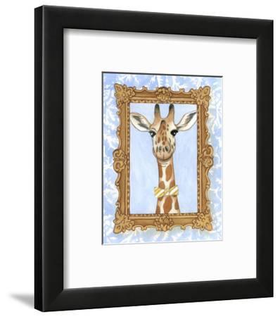 Teacher's Pet - Giraffe-Chariklia Zarris-Framed Art Print