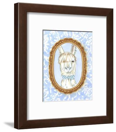 Teacher's Pet - Llama-Chariklia Zarris-Framed Art Print