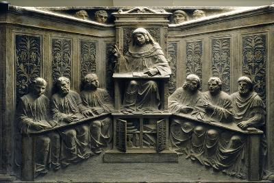 Teaching at the University, from the Tomb of P.Canonici--Photographic Print