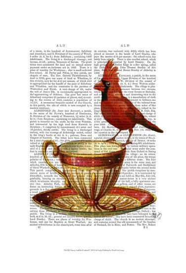 Teacup And Red Cardinal-Fab Funky-Art Print