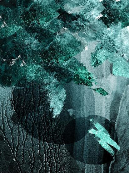 Teal Abstract A-Urban Epiphany-Art Print