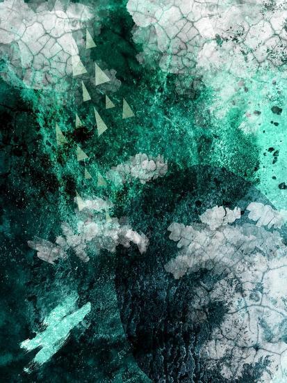 Teal Abstract B-Urban Epiphany-Art Print