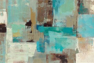 Teal and Aqua Reflections V2-Silvia Vassileva-Premium Giclee Print