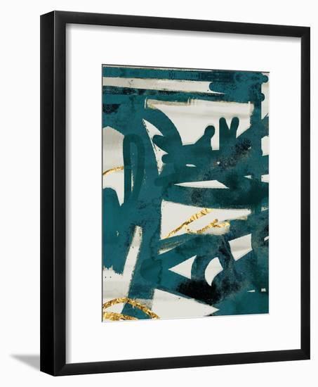 Teal and Flare 1-Cynthia Alvarez-Framed Art Print