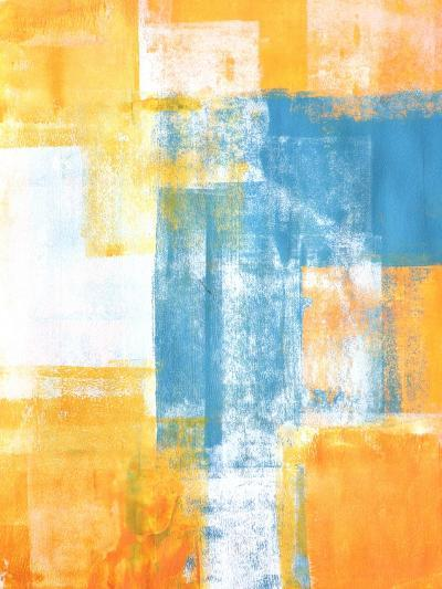 Teal And Orange Abstract Art Painting-T30Gallery-Art Print