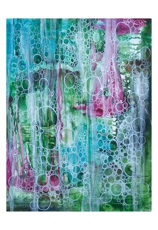 Teal Bubbles-Pam Varacek-Art Print