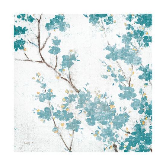 Teal Cherry Blossoms II on Cream Aged no Bird-Danhui Nai-Art Print