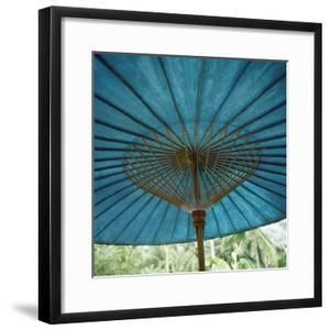 Teal-Colored Traditional Paper Parasol
