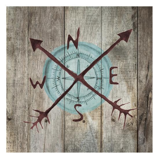 Teal Compass-Victoria Brown-Art Print