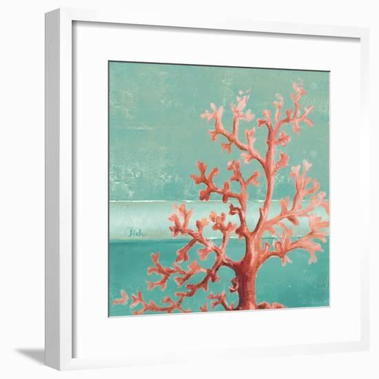 Teal Coral Reef I-Patricia Pinto-Framed Premium Giclee Print