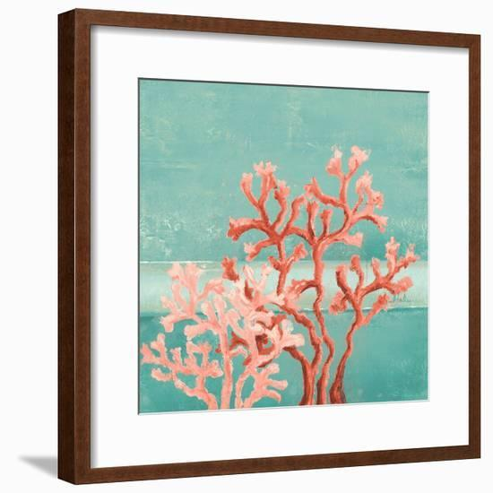 Teal Coral Reef II-Patricia Pinto-Framed Premium Giclee Print