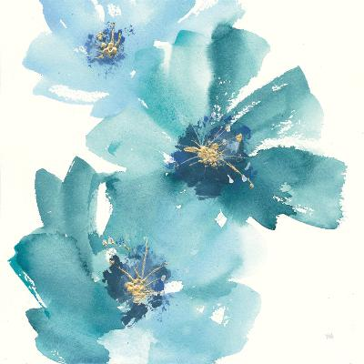 Teal Cosmos IV-Chris Paschke-Art Print