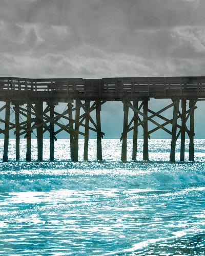 Teal Dock II-Jairo Rodriguez-Art Print