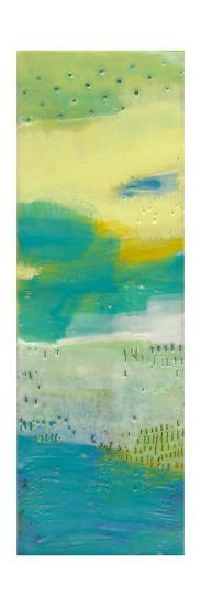 Teal Dot Panels I-Sue Jachimiec-Art Print