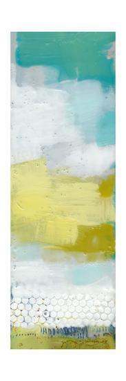 Teal Dot Panels IV-Sue Jachimiec-Art Print