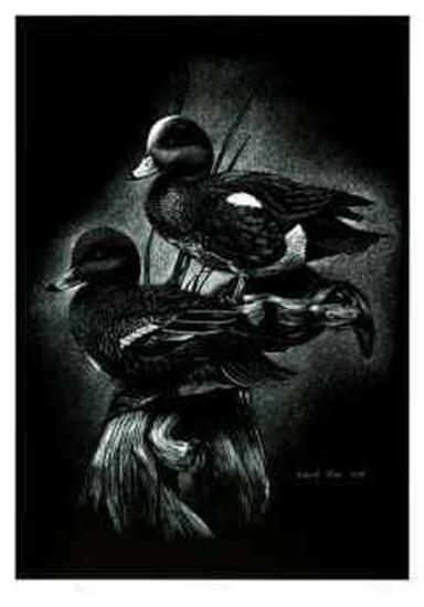 Teal Ducks-Robert Pow-Limited Edition