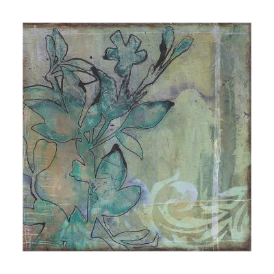 Teal Extraction I-Jennifer Goldberger-Premium Giclee Print