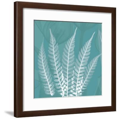 Teal Fern Xray-Albert Koetsier-Framed Premium Giclee Print
