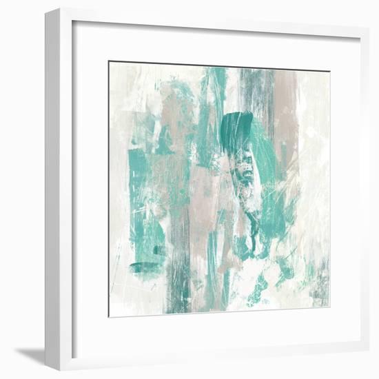 Teal Fog II-June Erica Vess-Framed Art Print