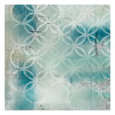 Teal Geo 1-Kimberly Allen-Art Print