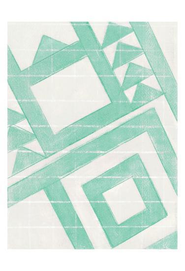 Teal Geo-Smith Haynes-Art Print