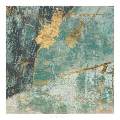 Teal Lace I-Jennifer Goldberger-Art Print