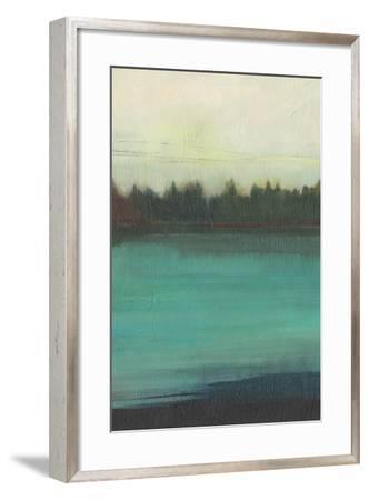 Teal Lake View II-Jodi Fuchs-Framed Art Print