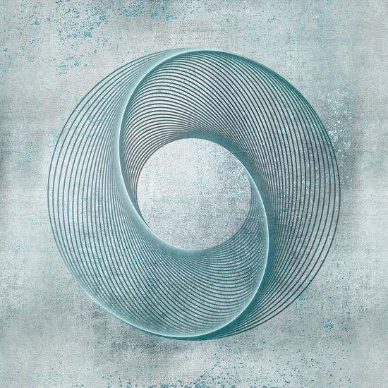 Teal Line Art-Lebens Art-Art Print