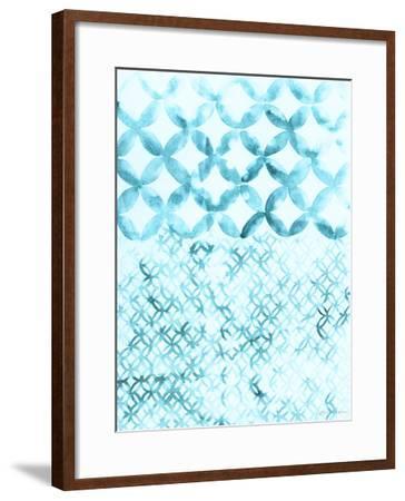 Teal Madras IV-Vanna Lam-Framed Giclee Print