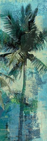 Teal Palm Triptych II-Eric Yang-Art Print