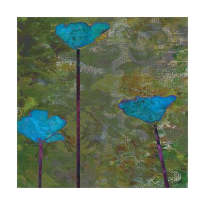 Teal Poppies II-Ricki Mountain-Art Print