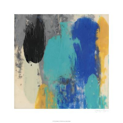 Teal Schmear I-Jennifer Goldberger-Limited Edition