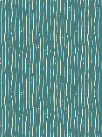 Teal Stripe Pattern-Esther Loopstra-Giclee Print
