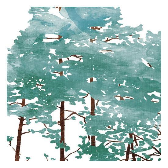 Teal Watered Trees-OnRei-Art Print