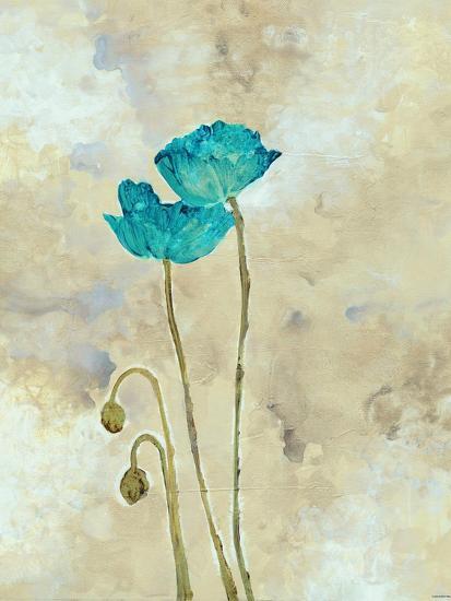 Tealqoise Flowers I-Henry E.-Art Print