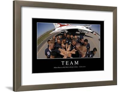 Team: Inspirational Quote and Motivational Poster