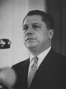 Teamsters Union Leader James R. Hoffa Speaking at a Meeting