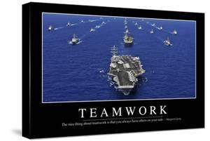 Teamwork: Inspirational Quote and Motivational Poster