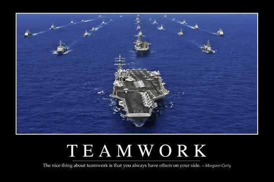 teamwork inspirational quote and motivational poster photographic print by artcom