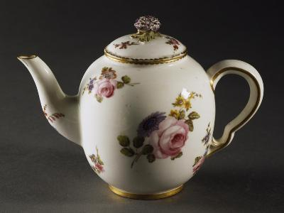 Teapot Decorated with Scattered Bouquets of Flowers--Giclee Print