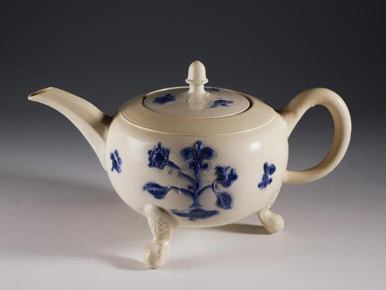 Teapot with Oriental-Inspired Floral Decorations, Ca 1740--Giclee Print