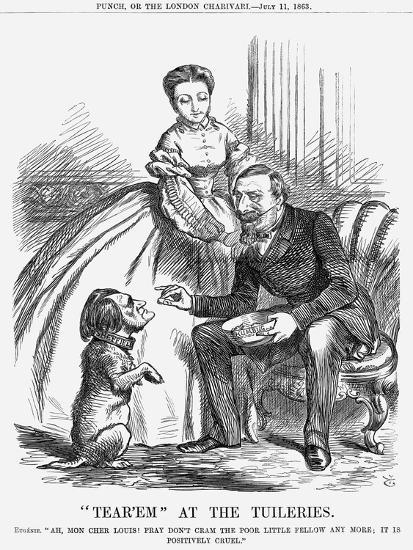 Tear'Em at the Tuileries, 1863-John Tenniel-Giclee Print