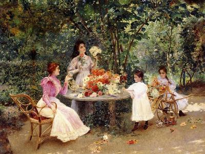 Teatime in the Garden-Edouard Frederic Wilhelm Richter-Giclee Print